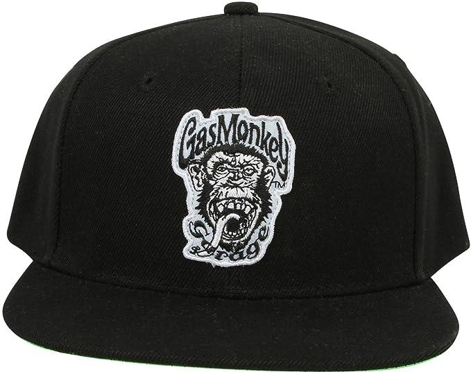 3d99458e0a9cf3 Gas Monkey Garage Cap Snapback Green Monkey Black: Amazon.co.uk ...