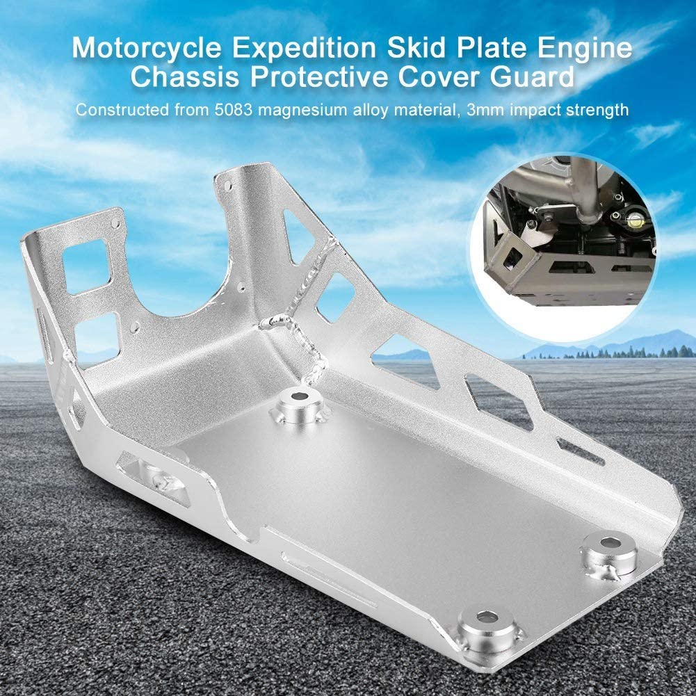 Silver Motorcycle Expedition Skid Plate Engine Chassis Protective Cover Guard For BMW G310GS G310R