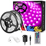 LE LED Strip Lights Kit, 32.8ft Dimmable RGB LED Light Strips, Color Changing Light Strip with Remote Control, 12V Power Supp