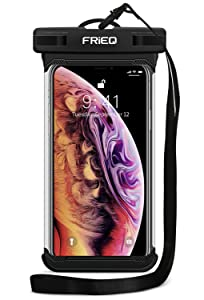 """Waterproof Case Cellphone Dry Bag Pouch for iPhone Xs Max XR XS X 8 7 6S Plus, Samsung Galaxy S10 S10e S9 S8 +/Note 9 8, Pixel 3 2 XL HTC LG Sony Moto up to 6.5"""" - Designed by FRiEQ"""