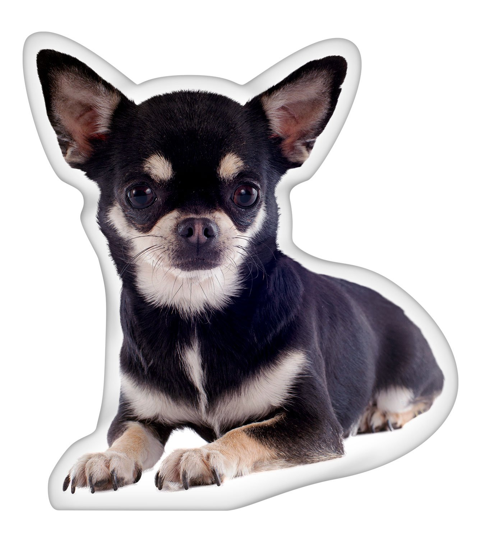 iLeesh Chihuahua Black Shaped Pillow