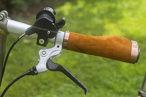 Mango ergonómico para Brompton - Bicicleta plegable (ante sintético, aluminio, con bocallave), color marrón claro: Amazon.es: Deportes y aire libre