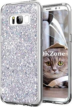OKZone Funda Samsung Galaxy S8, Cárcasa Brilla Glitter Brillante ...