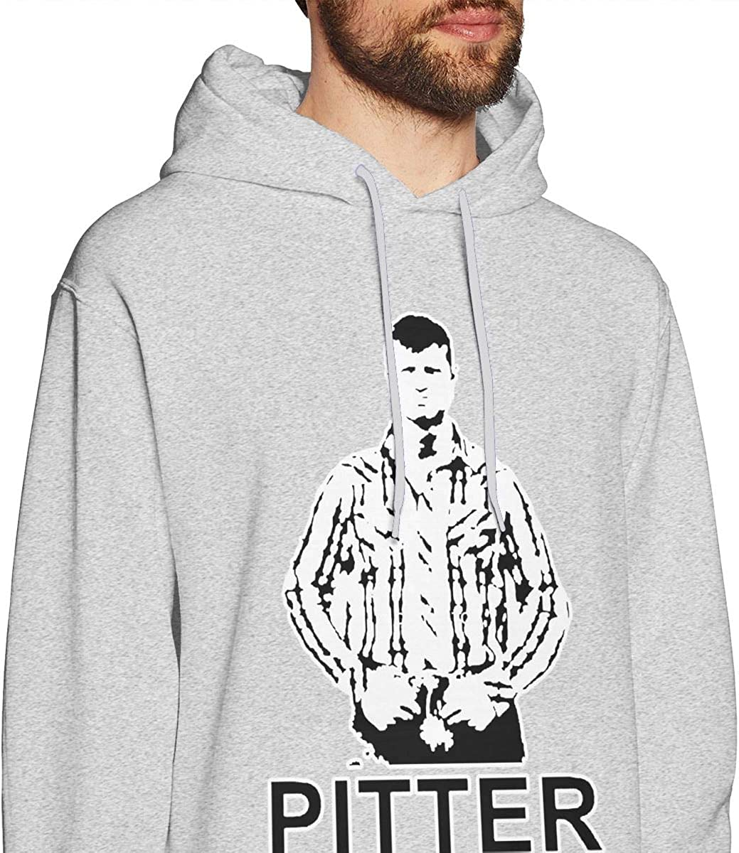 MUSICOT Pitter Patter Letterkenny Mens Pullover Hooded Sweatshirt Cozy Sport Outwear