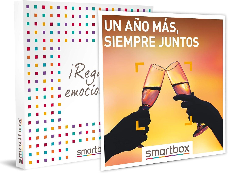SMARTBOX - Caja Regalo - Un año más, Siempre Juntos - Idea de Regalo - 1 o 2 Noches con Desayuno o 1 o 2 Noches con Desayuno y SPA o Cena