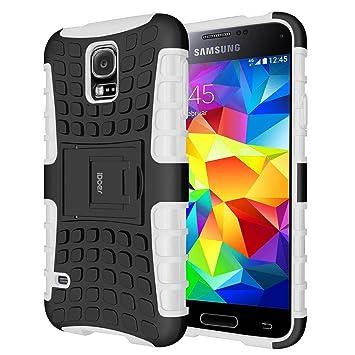 S5 Funda,Galaxy s5 Case Carcasa Cases caso armor doble capa híbrida con soporte Cáscara de Cubierta de Silicona Protectora para Samsung Galaxy S5 \ ...