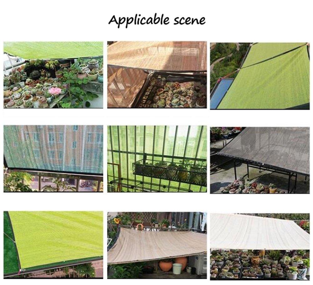 Tarpaulin Jardinería Plantas Sombra Red/Techo Sombra Red/balcón Patio Sombra Red/Aislamiento térmico Cortina sombreado Red (4 Tipos de tamaños Disponibles) ...