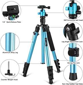 MACTREM 57 inch Lightweight Tripod for Home and Travel