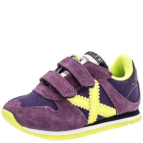 Munich Massana Baby Violeta, plano de 0 a 2 cm, piel, Redonda, Otoño/Invierno, 23: Amazon.es: Zapatos y complementos