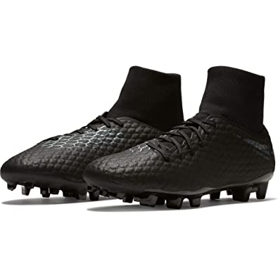 san francisco 6f842 21111 Nike Hypervenom Phantom 3 Academy DF FG Soccer Cleat (Black) (Men's  9/Women's 10.5)