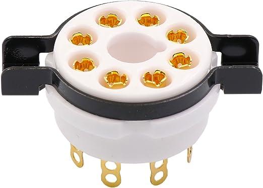 Cary 2pc 8pin Gold Ceramic Vacuum Tube Socket Valve Base Fr Kt88 El34 6550 6sn7 Audio