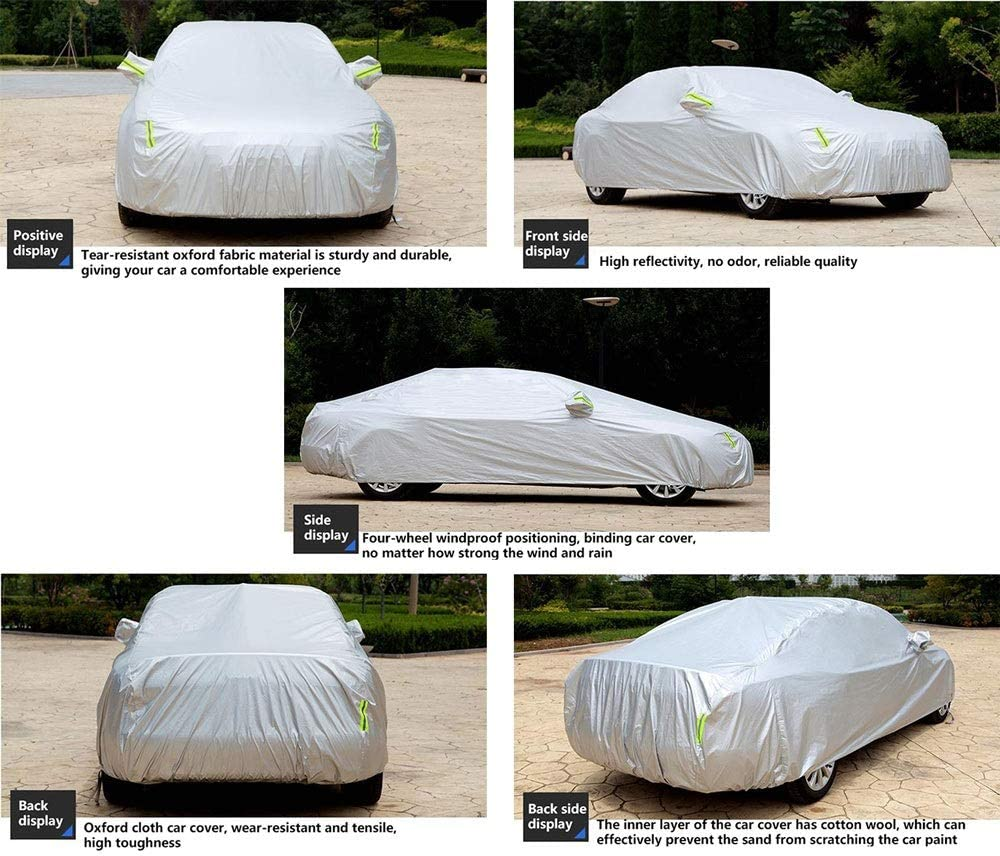LUXZ-Car cover Compatible with Audi A4 Cabriolet Car Cover Waterproof Car Tarpaulin Sun Proof Dustproof Car Protector UV Protection with Fluorescent Strip Breathable Tear Proof All Weather Oxford Clot