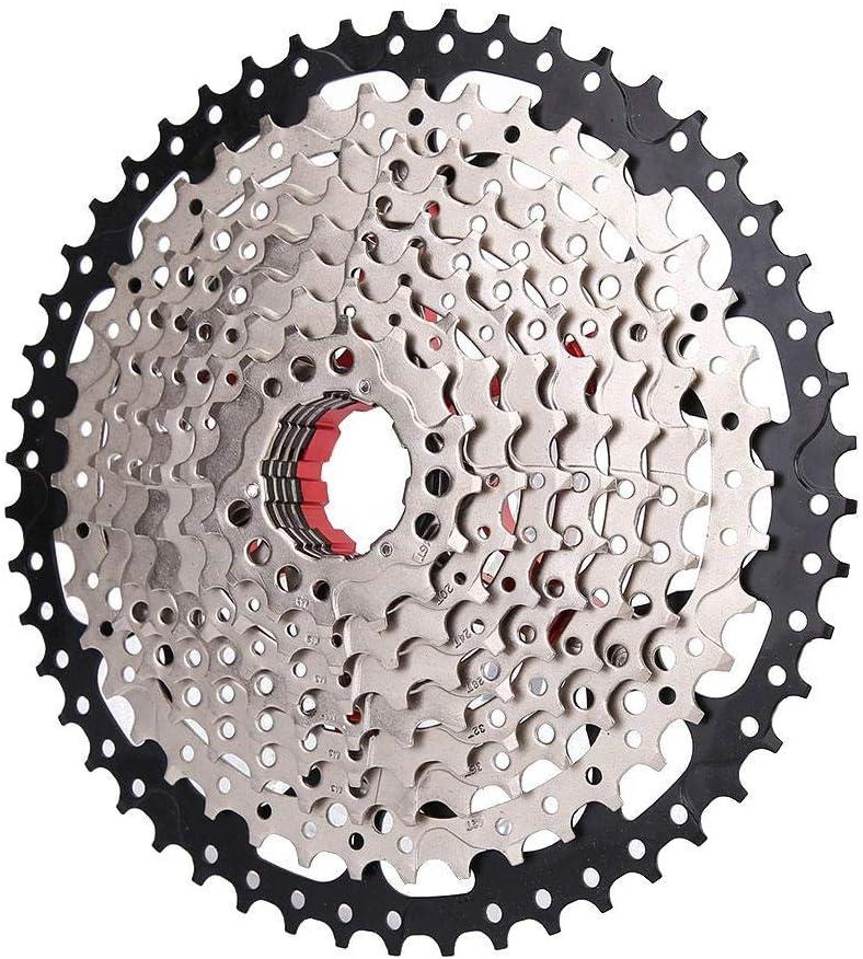 Casete de Velocidad de Bicicleta, Rueda Dentada de Bicicleta Rueda Libre de 10 velocidades para Anillo de Cadena Entre 11-50T