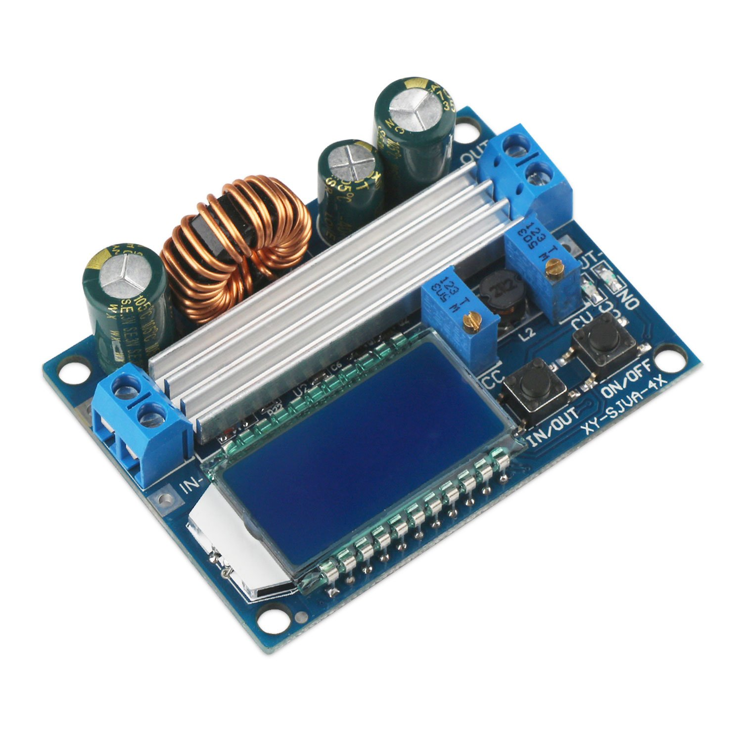 Buck Boost Converter Display Drok Board Dc Protection Circuit Module Pcb For 37v Of Liion Battery 20a Limit 55 30v 12v To 05 5v 24v Adjustable Constant Current Voltage Step Up Down Regulator 3a 35w Power Supply