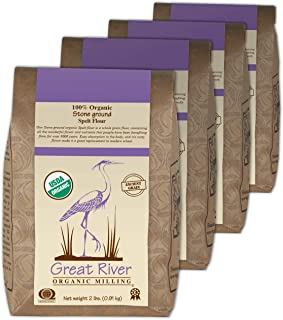 product image for Great River Organic Milling, Specialty Flour, Spelt Flour, Stone Ground, Organic, 2-Pounds (Pack of 4)