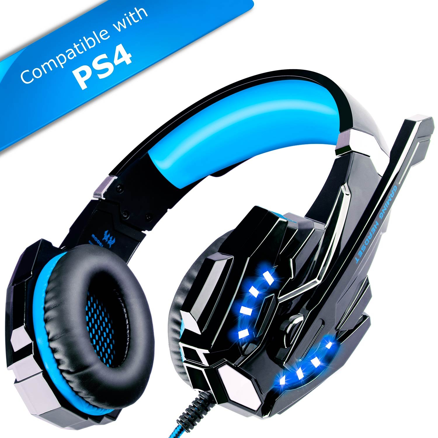 ecoopro gaming headset ps4 headset gaming headphones with. Black Bedroom Furniture Sets. Home Design Ideas