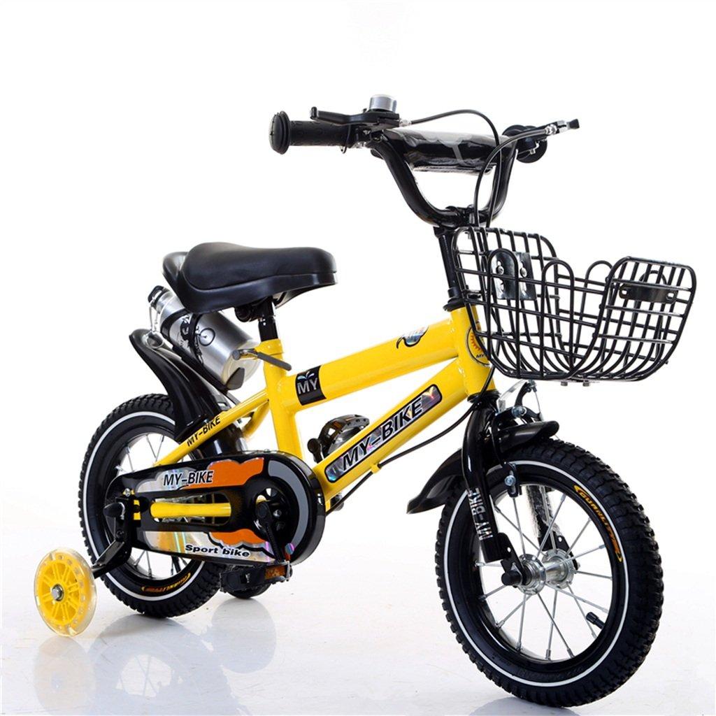 QFF オフロード自転車、男の子、女の子自転車安全な子供時代の自転車2-10歳の赤ちゃんの補助ホイール自転車88-121CM ZRJ (色 : イエロー いえろ゜, サイズ さいず : 100CM) B07D36R8B6 100CM|イエロー いえろ゜ イエロー いえろ゜ 100CM
