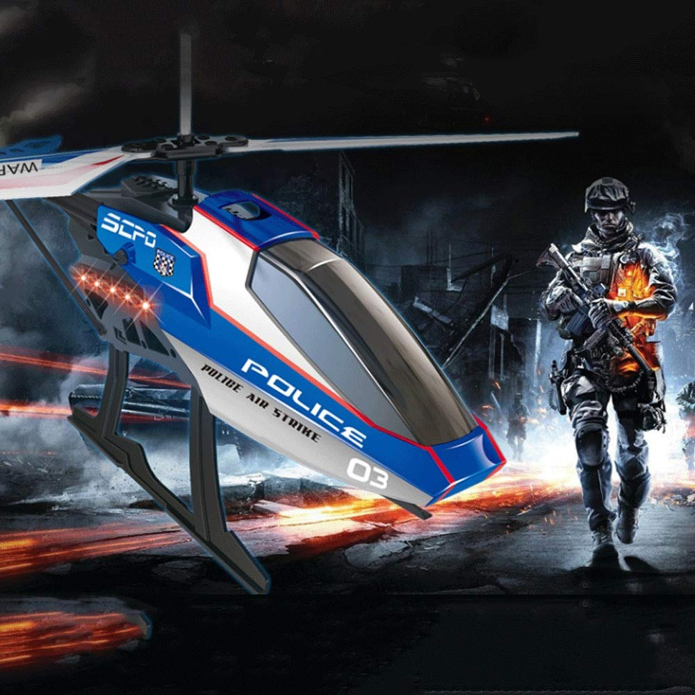 Zenghh RC Helicopter Long-distance Aircraft Police Toy Multiplayer Game Machine Alloy Rack Boy Child New Adult Charging And LED Lights Outdoor Shatter-resistant Iwate Aviation Model Oversized Preferre