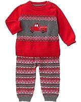 Gymboree Baby Red Firetruck Sweater Set
