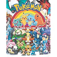 Pokemon Coloring Book for Kids: Pikachu Coloring Book and Pokemon Characters, Great Starter Book for Young Children Aged 3+