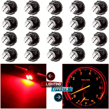 Jtech 10 x T4.2 Neo Wedge 2 SMD LED White Car Instrument Cluster Panel Heater Control Lights Bulbs A//C Dash Climate Gauge