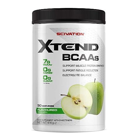 Scivation - Xtend - Suplemento de aminoácidos de cadena ramificada (BCAA) - Manzana verde