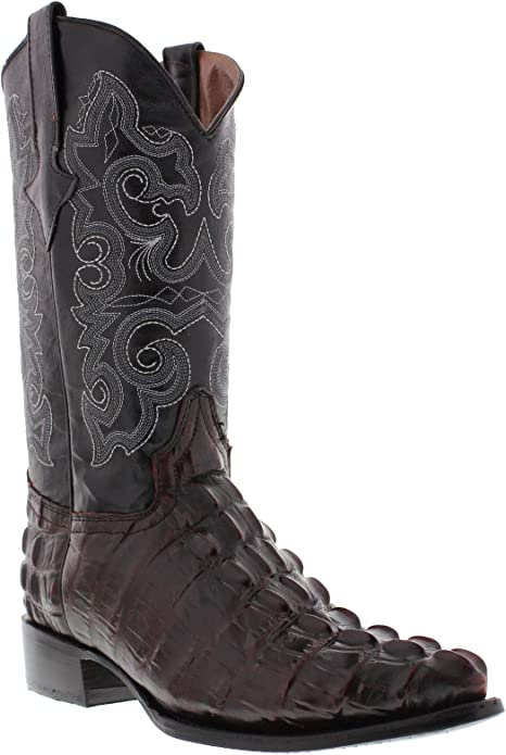 Team West Mens Brown Python Snake Print Leather Cowboy Boots Square Toe 10.5 E US
