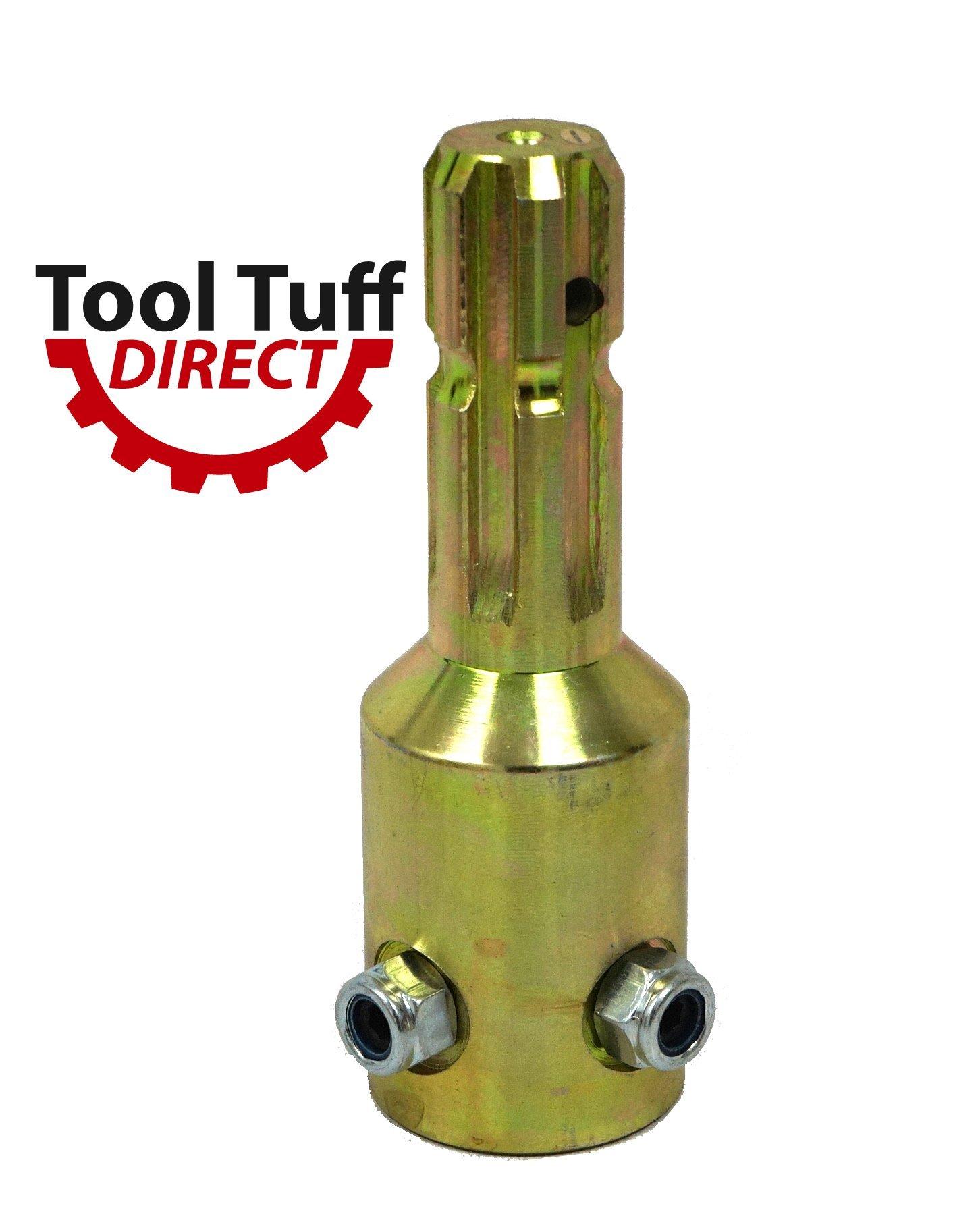 PTO Spline Adaptor, 1-3/8 x 6 Male x 1-3/4 x 20 Female w/ Set Screw Lock by AgKnx