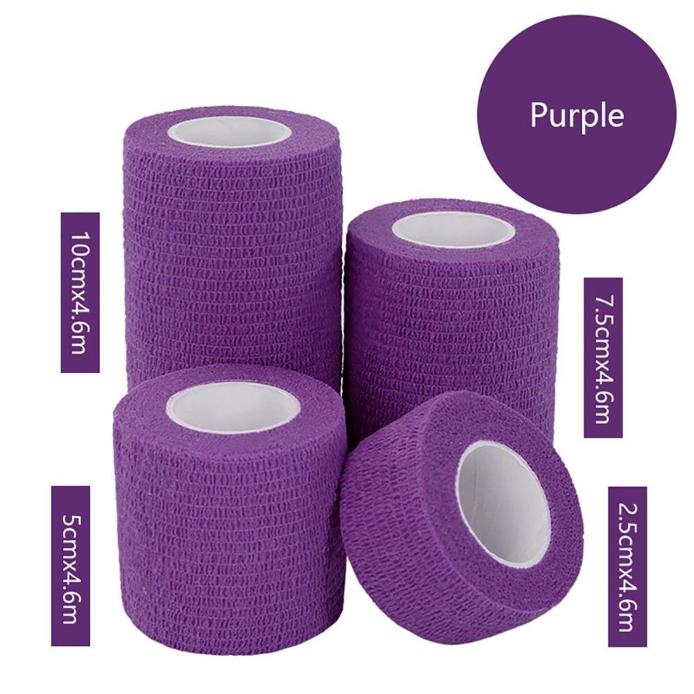 JaneDream Sports Waterproof Breathable Safety Adhesive Flexible Elastic Bandage First Aid Medical Health Care Gauze Protect Finger Wrist Ankle Knees Tape S 2.5cm Purple