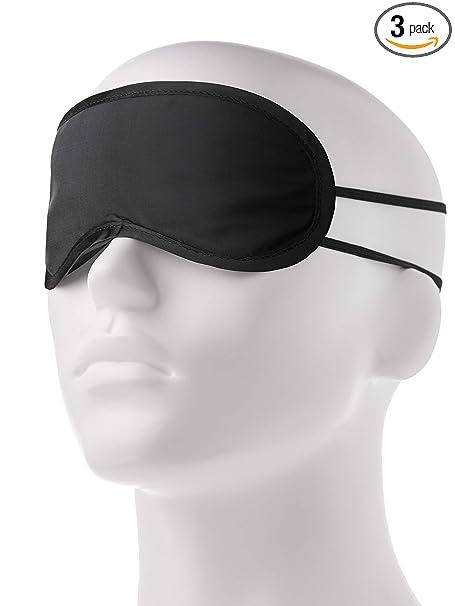 Sleep Mask For Women Men   3 Pack   Blindfolds For Kids' Best Party   Ergonomic Sleeping Masks For Comfortable Rem Nap   Black Sleepmask With Ear Plugs Set   Qualitative Eye Cover For Blindfold Sleep by Brison