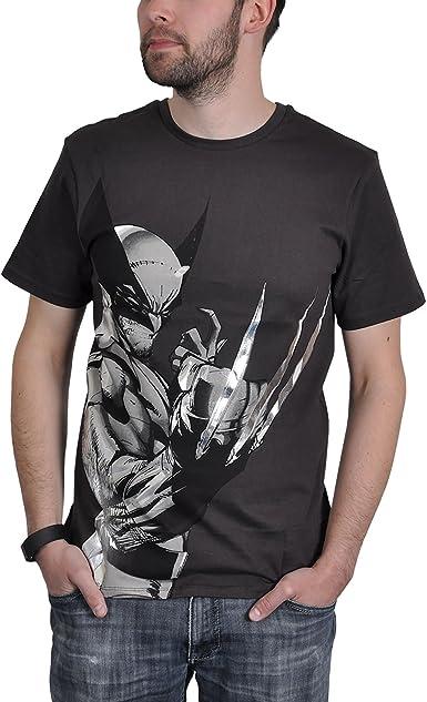 Wolverine de Marvel superhéroes Camisa Camiseta en Antracita ...