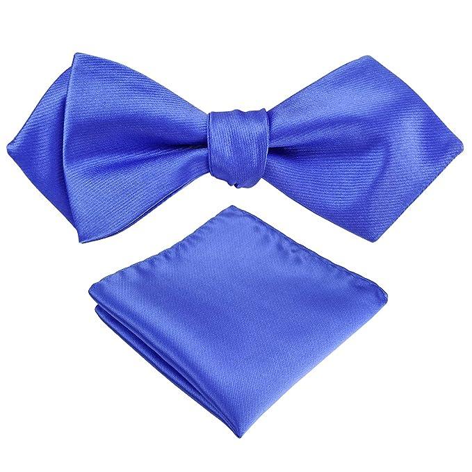 Angelcrab Juego de corbata cuadrada para hombre con punta de ...