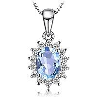 JewelryPalace Elégant Diana Princesse Kate Middleton Collier Pendentif Femme Chaîne en Argent Sterling 925