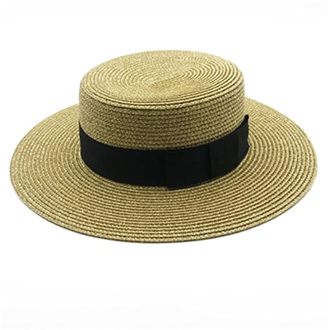 Cheryl Bull Fashion Wide Brim Sun Hats Solid Ladies Straw Hats Women Summer  Beach Cap Young Girl Ladies Hats Femme Cap T241 Gold at Amazon Women s  Clothing ... 075e5c74a911