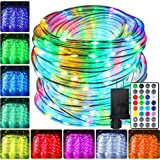 Led Outdoor Rope Lights 66ft, 200 LEDs 16 Colors Rope Lights Waterproof - Multi Mode Rope Lights for Bedroom Starry…