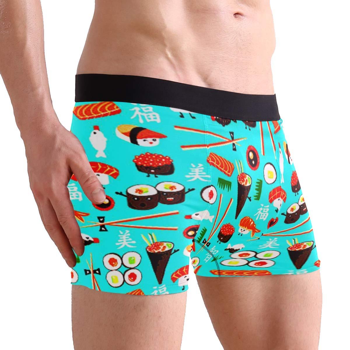 CATSDER Happy Sushi Boxer Briefs Mens Underwear Pack Seamless Comfort Soft