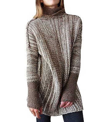 in vendita online vasta gamma di miglior valore Maglioni Lunghi Donna Oversize Maglione Lungo Dolcevita ...