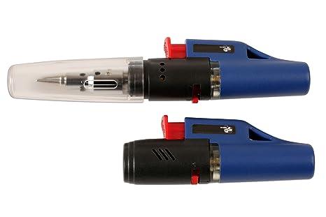 Laser 6589 Soldador de Gas y Mini Linterna