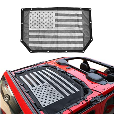 cartaoo Sunshade Mesh UV Protection Shade Top Net Cover for Jeep Wrangler JL & JL Unlimited (JL 2-Door & 4-Door): Automotive