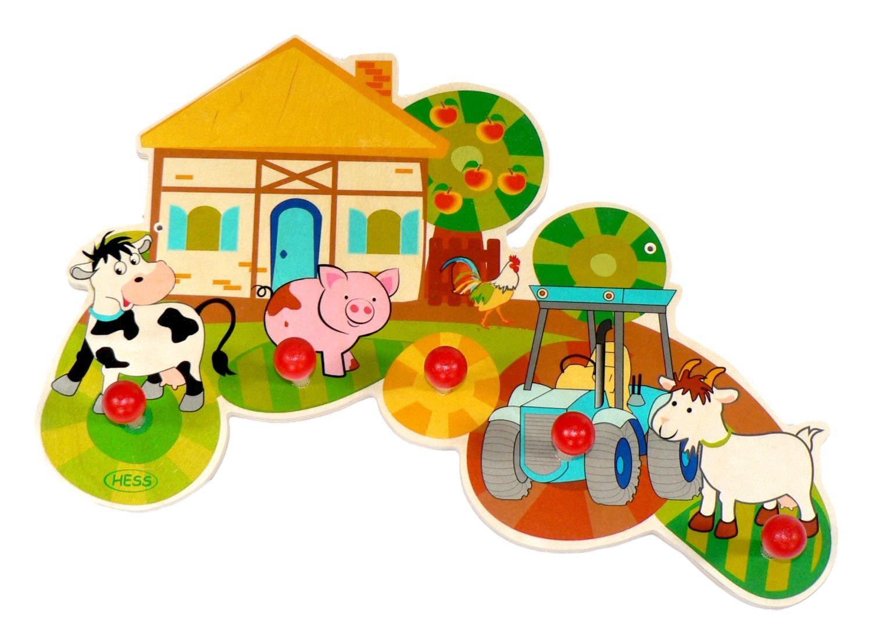 Hess Wooden Farmhouse Wardrobe Baby Toy Hess_30304