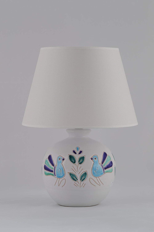 Pavoncella sarda, base lampada altezza cm 20