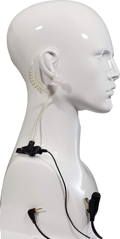 Auriculares de Tubo ac/ústico con PTT y micr/ófono RadioEarpiece TLKR