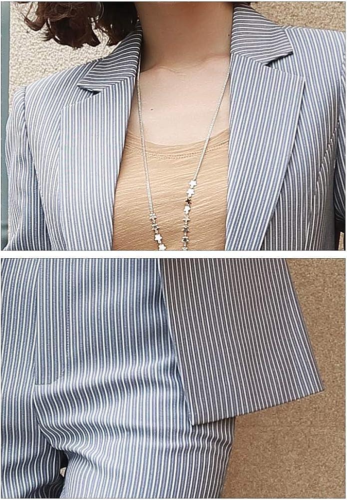 SUSIELADY Damen Business Anzug Set Blazer Hose f/ür B/üro Lady Anzug Set Slim Fit Blazer Hose