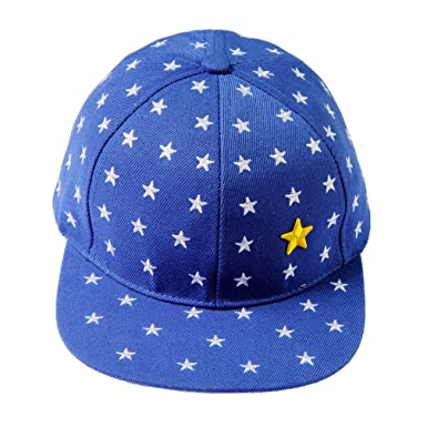 Image Unavailable. Image not available for. Colour  La Vogue Hip-Hop Flat  Peak Stars Snapback Baseball Cap Sun Hat Blue 12b272bbf726