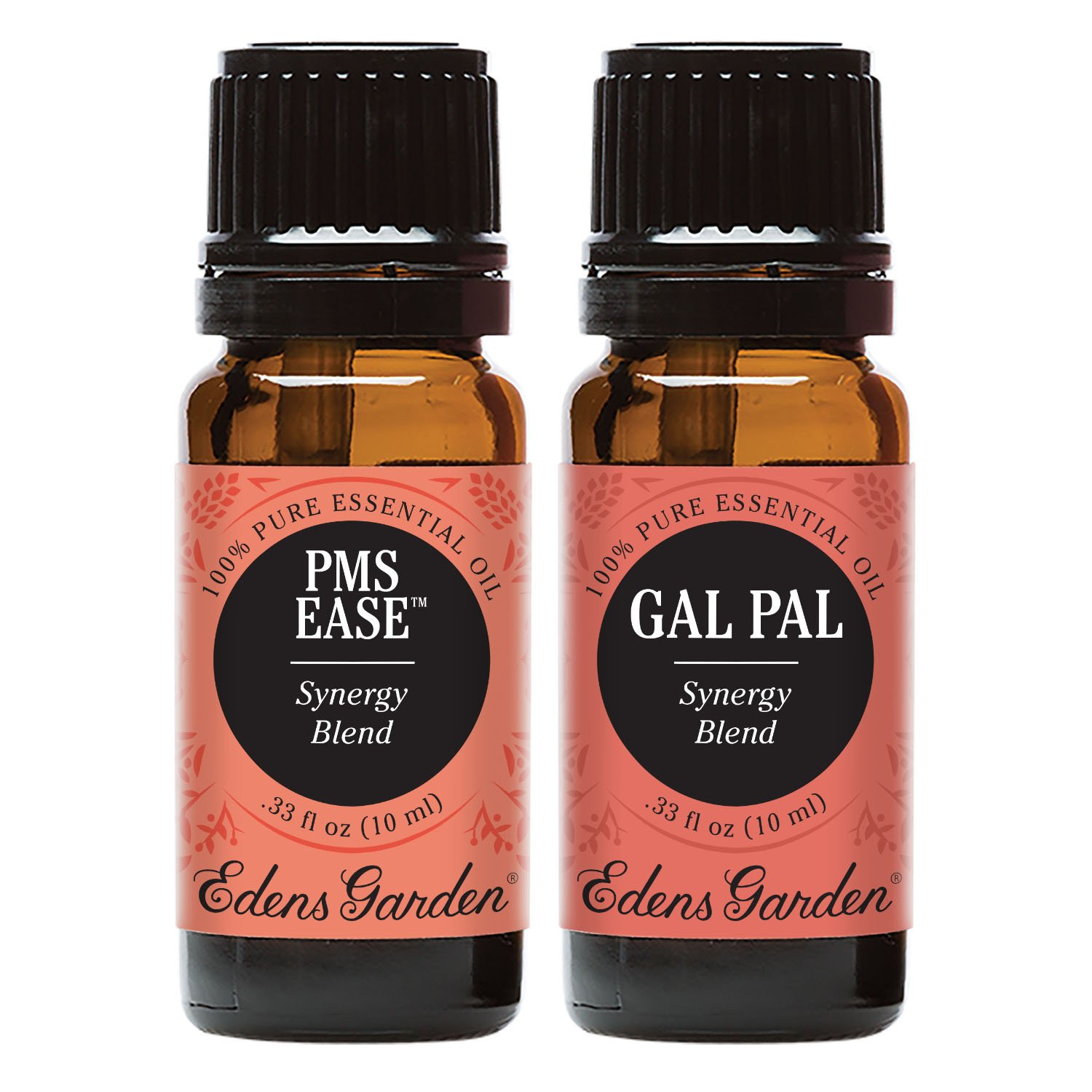 PMS Ease + Gal Pal Value Pack 100% Pure Therapeutic Grade Essential Oil by Edens Garden- 2 Set 10 ml