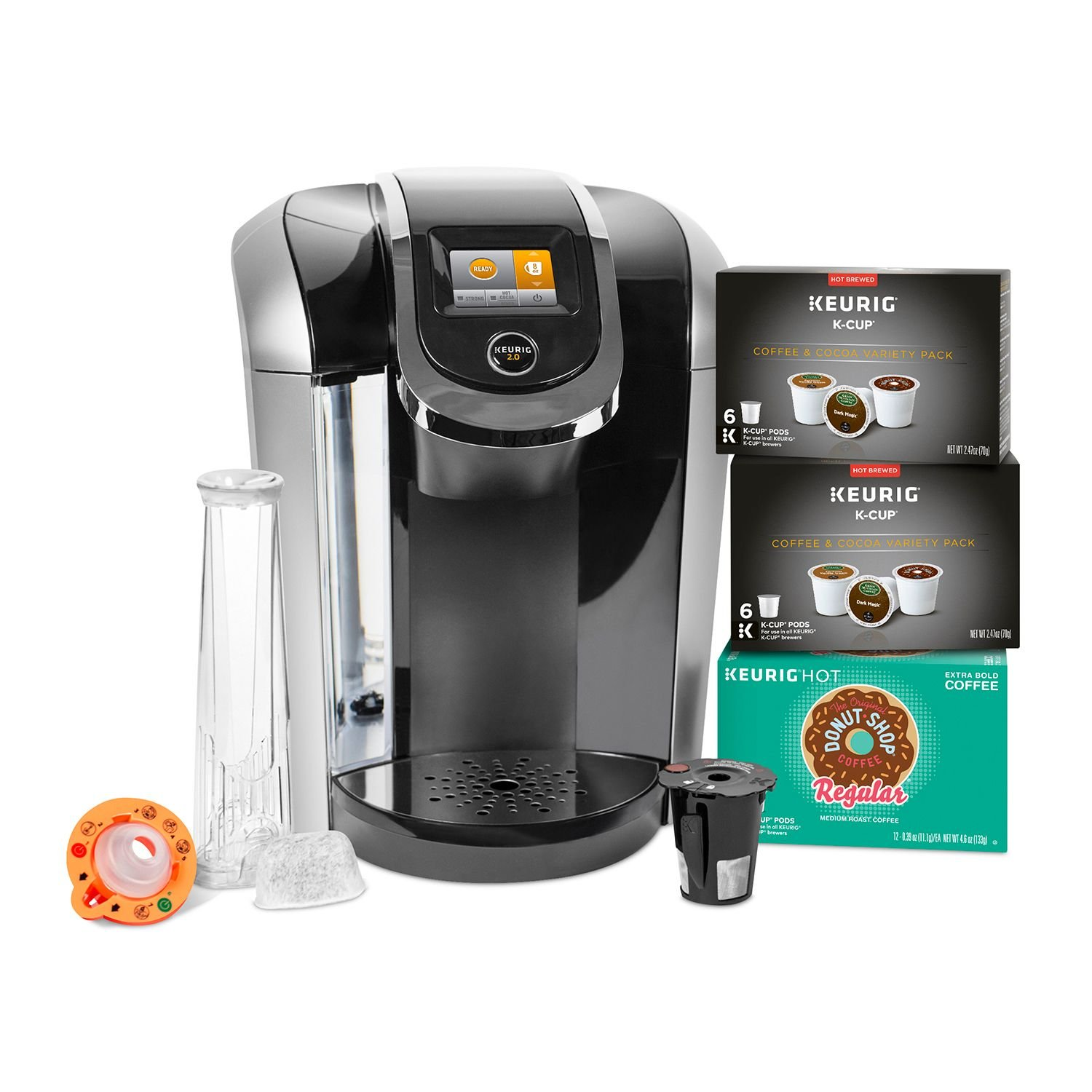 Keurig K425S Coffee Maker with 24 K-Cup Pods and Reusable K-Cup 2.0 Coffee Filter