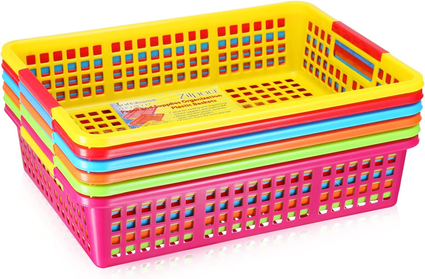 Closet Shelves Organization Trays Low School Zilpoo 10 Pack Plastic Shelf Bins