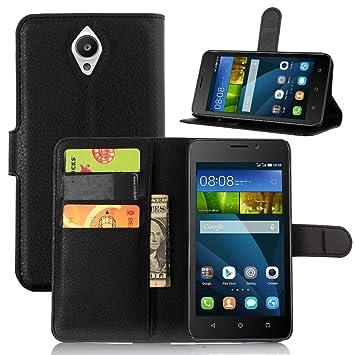 Huawei Y635 caso, Premium cartera de piel sintética con tapa con ...