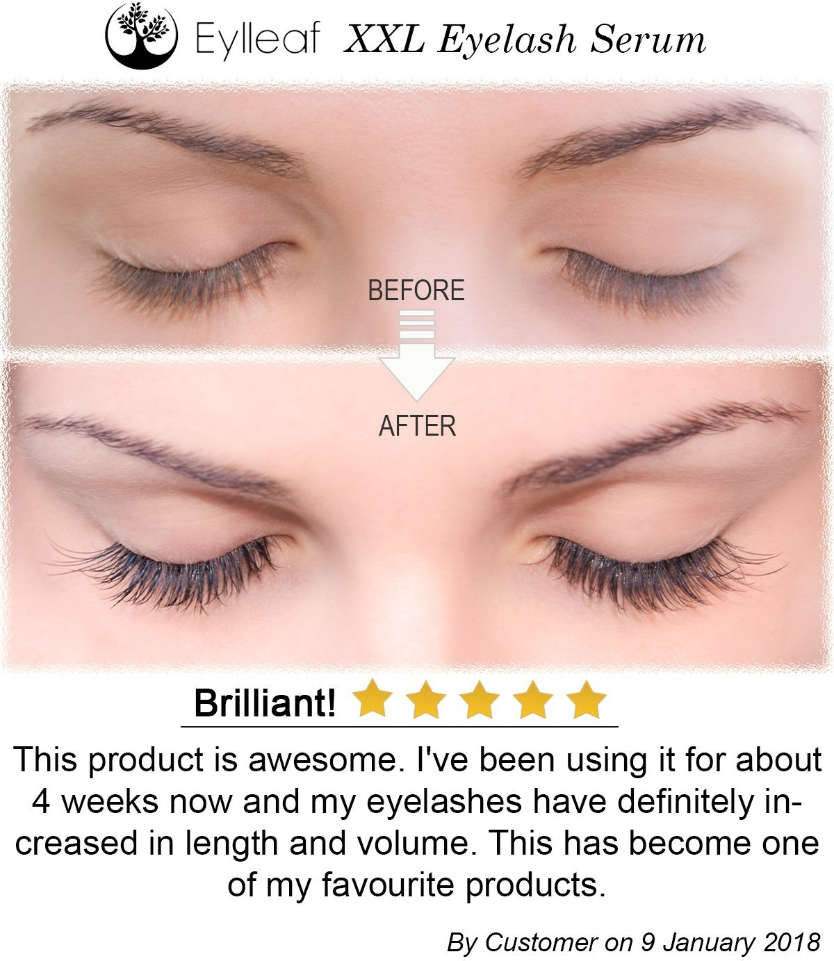 Eyelash Growth Serum And Eyebrow Serum 5ml Professional Eyelash