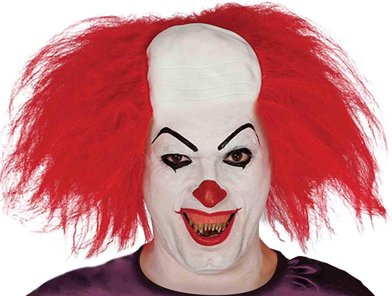 Parrucca Adulti Colore Arancione Idea Regalo Originale KIRALOVE Parrucca Pagliaccio Uomo Clown Carnevale